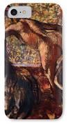 Breakfast After The Bath Le Petit Dejeuner Apres Le Bain IPhone Case by Edgar Degas