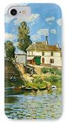 Bridge At Villeneuve-la-garenne IPhone Case by Alfred Sisley