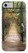 Bridge Over Waterfall IPhone Case by Nawarat Namphon