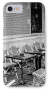 Brussels Cafe In Black And White IPhone Case by Carol Groenen