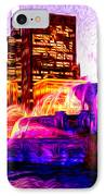 Buckingham Fountain At Night Digital Painting IPhone Case