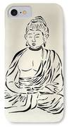 Buddha In Black And White IPhone Case by Pamela Allegretto