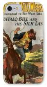 Buffalo Bill And The Silk Lasso IPhone Case by Dime Novel Collection