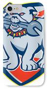 Bulldog Spanner Mascot Shield IPhone Case by Aloysius Patrimonio