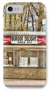 Burger Delight IPhone Case by Scott Pellegrin