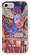 Burnin' Blue Spirit IPhone Case by Robert Ponzio