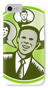Businessman People Smiling Speech Bubble IPhone Case