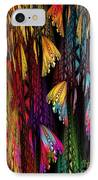 Butterflies On The Curtain IPhone Case