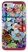 Butterfly Octagon Stained Glass Window IPhone Case by Thomas Woolworth