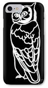 Bw Owl IPhone Case by Amy Sorrell