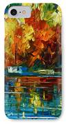 By The Rivershore IPhone Case by Leonid Afremov