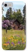 Cabin And Wildflowers IPhone Case