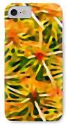 Cactus Pattern 2 Yellow IPhone Case