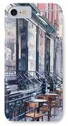 Cafe Della Pace East 7th Street New York City IPhone Case by Anthony Butera