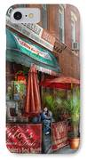 Cafe - Hoboken Nj - Vito's Italian Deli  IPhone Case by Mike Savad