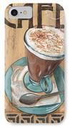 Cafe Nouveau 1 IPhone Case by Debbie DeWitt