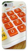 Calculator IPhone Case by Les Cunliffe