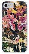 California Vineyard Series Fall Grape Leaves IPhone Case by Artist and Photographer Laura Wrede