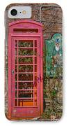Call Me - Abandoned Phone Booth IPhone Case by Kay Pickens