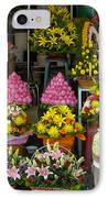 Cambodia Flower Seller IPhone Case by Mark Llewellyn