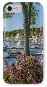 Camden Harbor Spring IPhone Case by Susan Cole Kelly