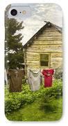 Camp Leconte IPhone Case by Debra and Dave Vanderlaan