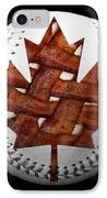 Canadian Bacon Lovers Baseball Square IPhone Case by Andee Design