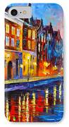 Canal In Amsterdam IPhone Case