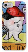 Caped Tooth IPhone Case by Anthony Falbo