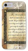 Caramel Scripture IPhone Case by Debbie DeWitt