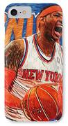 Carmelo Anthony IPhone Case by Taylan Apukovska