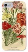 Carnations IPhone Case by Philip Ralley