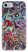Carnival An Abstract Modern Contemporary Digital Art IPhone Case by Annie Zeno