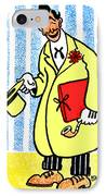 Cartoon 04 IPhone Case by Svetlana Sewell