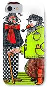 Cartoon 08 IPhone Case by Svetlana Sewell