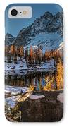 Cascades Ring Of Larches IPhone Case by Mike Reid