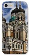 Cathedral In Tallinn IPhone Case by David Smith