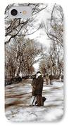 Central Park Kiss IPhone Case