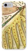 Ceramic Dragonfly IPhone Case by Anna Skaradzinska
