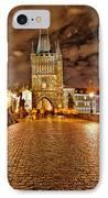 Charles Bridge At Night IPhone Case by Madeline Ellis