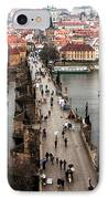 Charles Bridge I IPhone Case by John Rizzuto