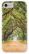 Charleston Sc Edisto Island - Botany Bay Road IPhone Case by Dave Allen
