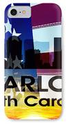 Charlotte Nc Patriotic Large Cityscape IPhone Case by Angelina Vick