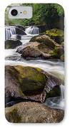 Chattooga River Potholes Waterfall Highlands Nc - The Artist's Hand IPhone Case by Dave Allen