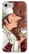 Chef Smell The Coffee IPhone Case by Shari Warren