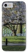 Cherry Blossoms Adorn Arlington National Cemetery IPhone Case