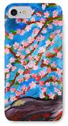 Cherry Tree In Blossom  IPhone Case by Ramona Matei