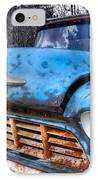 Chevy In The Woods IPhone Case by Debra and Dave Vanderlaan