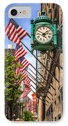 Chicago Macy's Clock And Chicago Theatre Sign IPhone Case