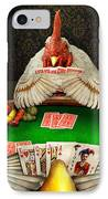 Chicken - Playing Chicken IPhone Case by Mike Savad